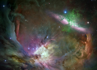 Keuken foto achterwand Heelal Nebula and galaxies in space. Abstract cosmos background