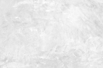 Fotobehang - White and grey concrete stone paint wall background, Grunge cement paint texture backdrop, White rough concrete stone wall background, Copy space for interior design background, banner, wallpaper