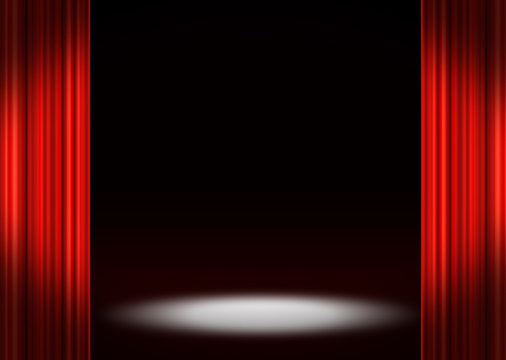 spotlight on stage background