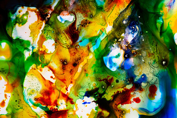 watercolors in water - an aquarelle texture