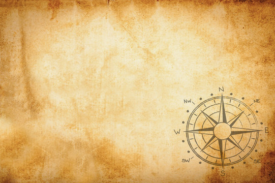 Parchment with compass rose