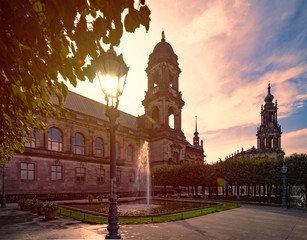 Old Dresden cathedral in Saxony, Germany, Europe