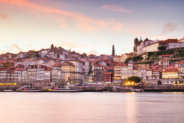 View Of Porto Oporto City And Douro River Portugal