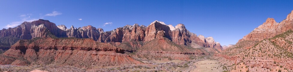 Panoramic Shot of Zion National Park, Utah