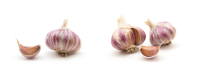 garlic isolated on white background Wall mural