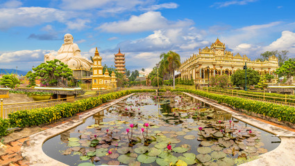 Landscape with Vinh Tranh Pagoda in My Tho, the Mekong Delta, Vietnam