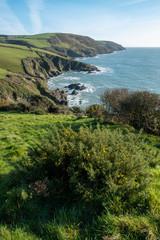 Lansallos cornwall england uk on the coast path