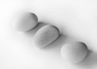 sea stones isolated on white