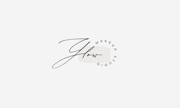 Glow: Beauty, Makeup Artist  Logo Template
