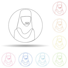 Avatar of priest in multi color style icon. Simple thin line, outline vector of avatar icons for ui and ux, website or mobile application
