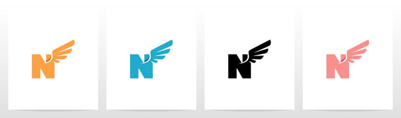 Wings On Letter Logo Design N