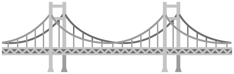 Seamless bridge vector illustration / gray