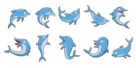 Dolphin vector graphic clipart design