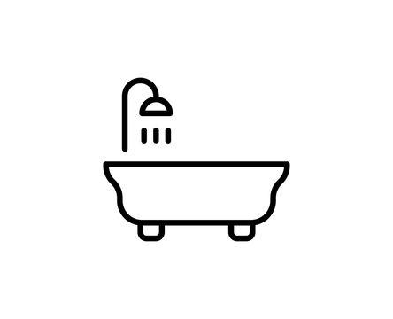 Bath premium line icon