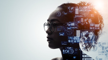 人とテクノロジー Fotomurales