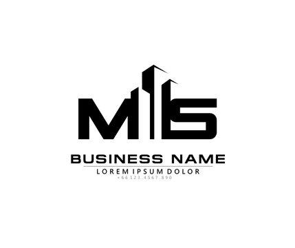 M S MS Initial building logo concept