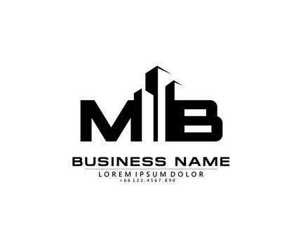 M B MB Initial building logo concept