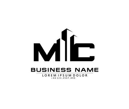 M C MC Initial building logo concept
