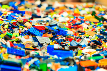 Bergen, Lego building during The Thall Ships Races on July 25, 2014 Norway