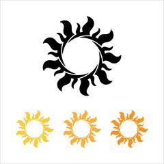 Tattoo Sun, Flame Tribal Design