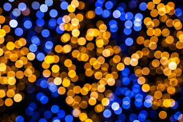 Abstract Festive Lights Bokeh Background