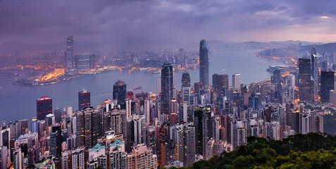 Fotomurales - Hong  Kong night view