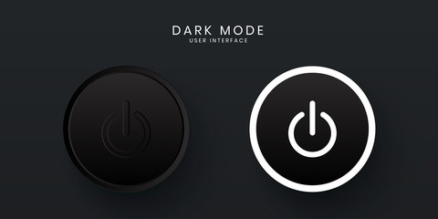 Elegant 3D Power Button ON / OFF UI in Dark Mode
