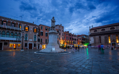 Fototapete - Santo Stefano square in Venice, Italy.