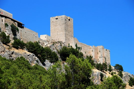 View of Santa Catalina castle which overlooks the city, Jaen, Spain.