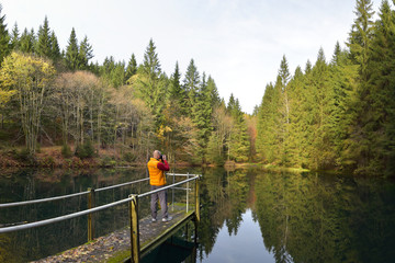 Pfanntalsteich bei Oberhof / Thüringer Wald