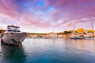 Marina in in Mali Losinj town, Croatia.