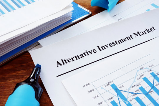 Alternative Investment Market AIM report and business charts.