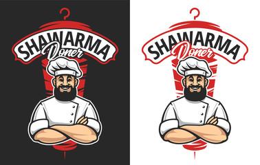 Shawarma Vector Emblem