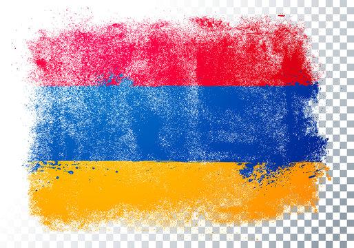 Vector Illustration vintage grunge texture flag of armenia