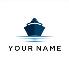 ship vector logo graphic abstract modern