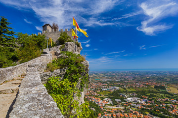 Castle of San Marino - Italy Wall mural