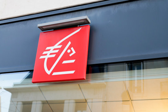 Caisse d'epargne sign logo french Bank agency