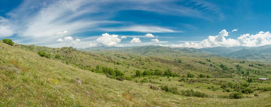 Green Mountain Landscape - Panoramic view - Skochivir, Municipality of Novaci, Macedonia