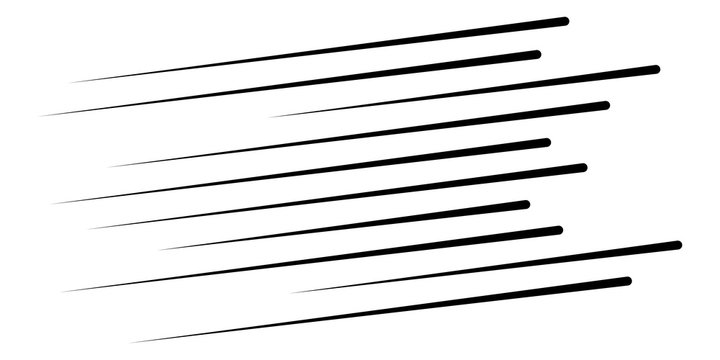 Speed lines. Dynamic Lines in Perspective. Effect straight burst in diagonal. Ray  burst. Rays in motion. Vector illustration