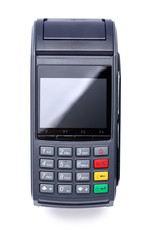 Pos terminal device for reading banking cards