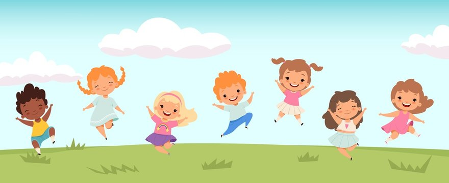 9,882 BEST Cartoon Kids Playing Outside IMAGES, STOCK PHOTOS & VECTORS    Adobe Stock