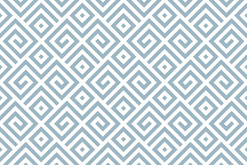 Foto op Canvas Geometrisch Abstract geometric pattern. A seamless vector background. White and blue ornament. Graphic modern pattern. Simple lattice graphic design