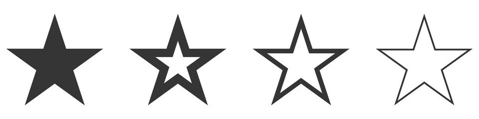 Star vector icons. Set of star symbols isolated. Fotomurales