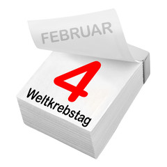 German: World Cancer Day February 4
