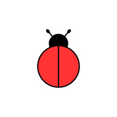 Blank ladybird icon. Clipart image isolated on white background