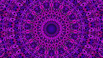 Purple botanical garden mandala background design - abstract geometrical vector ornament wallpaper illustration