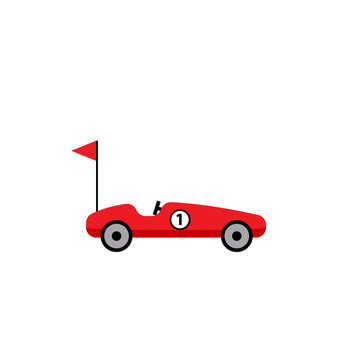 Soap box car icon. Clipart image isolated on white background