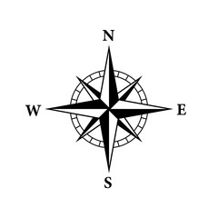 8 Point compass icon. Clipart image isolated on white background