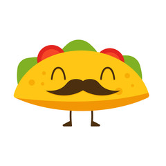 Mustache taco icon. Clipart image isolated on white background