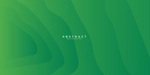 Green abstract background with liquid wave gradient color for presentation design. Suit for business, corporate, institution, conference, party, festive, seminar, and talks. Wall mural